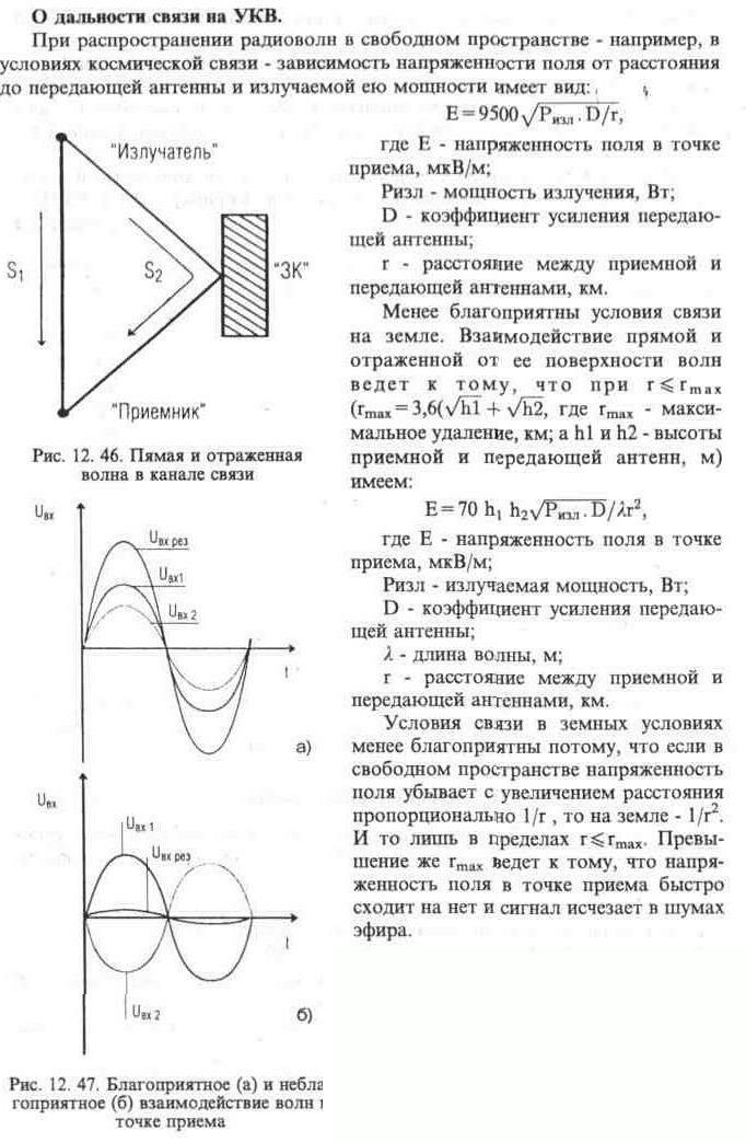 Original.  Антенны.  Вверх.  К определению напряженности поля в точке приема.