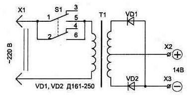 Пусковое устройство для запуска автомобиля от сети 220 вольт.