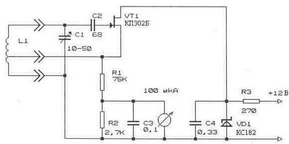 Для определения резонансных частот элементов антенно-фидерных устройств используют гетеродинные индикаторы резонанса.