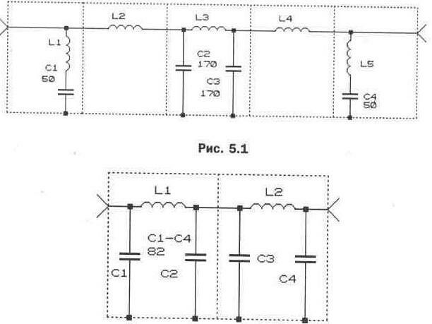 Рис. 5.2 Схема фильтра низких
