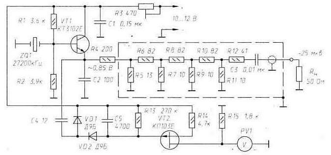 схема калибратора S-метра