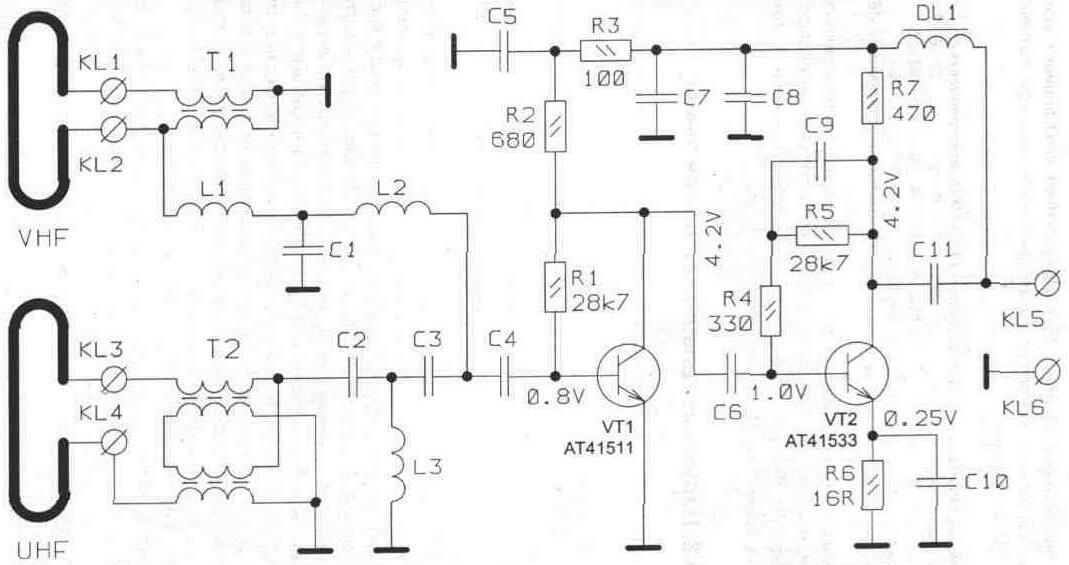 Принципиальная схема антенны «