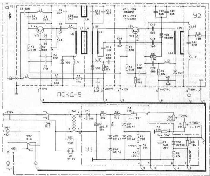 схема блока ПСКД-5-1