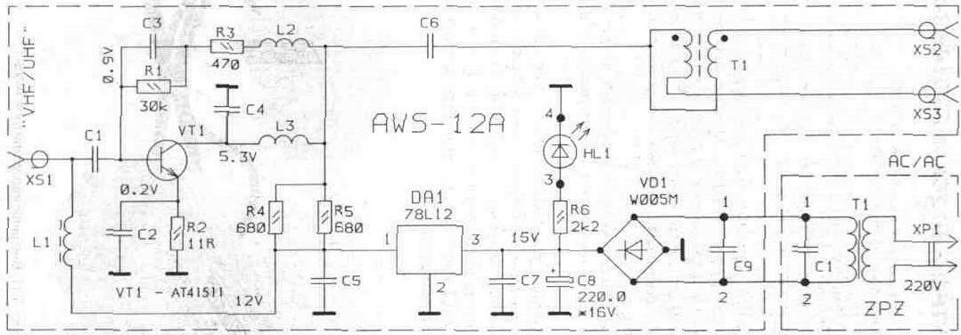 Принципиальная схема ARA-01A.  Антенны.  Вверх.  Thumbnail.