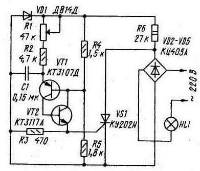 схемы зарядных устройств на тиристорах - СХЕМЫ ДЛЯ ВСЕХ.