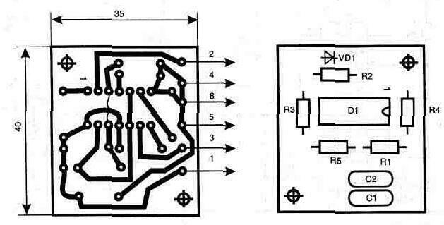 4.8.  Топология печатной платы и расположение элементов.  4-8.jpg.