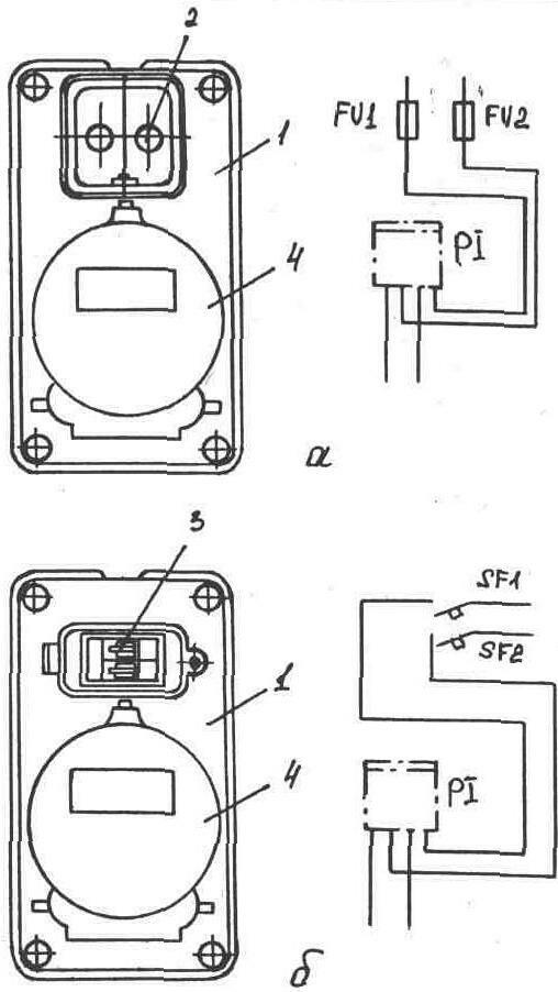 Общий вид и электрическая схема квартирных щитков.