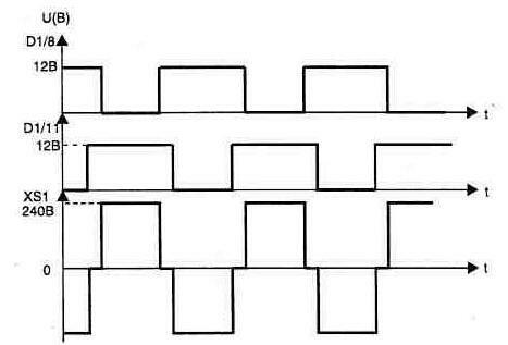 Схема импульсного преобразователя с 12 в на 220 в 50 гц.