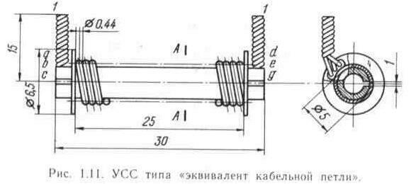 """Хорошие результаты можно получить, если применить УСС типа  """"эквивалент кабельной петли """" (ЭКП), рис. 1.11."""