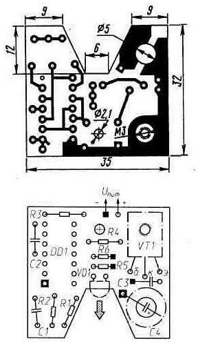Печатная плата генератора.  Печатную плату генератора изготавливают из...