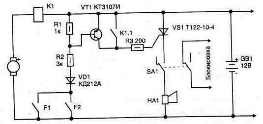 Использование токового реле в