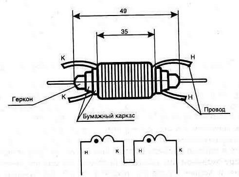 Конструкция токового реле с