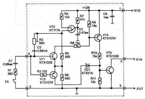 Схема сборки генератора дыма.
