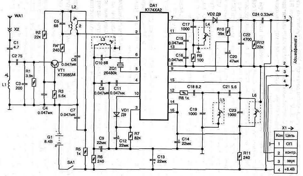 Автоэлектроника.  Электроника для отдельных блоков автомобиля.  Практические схемы охранных устройств.