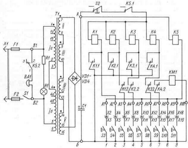 Принципиальная электрическая схема релейного сторожевого устройства приведена на рис. 3. 14.  Она включает в свой...