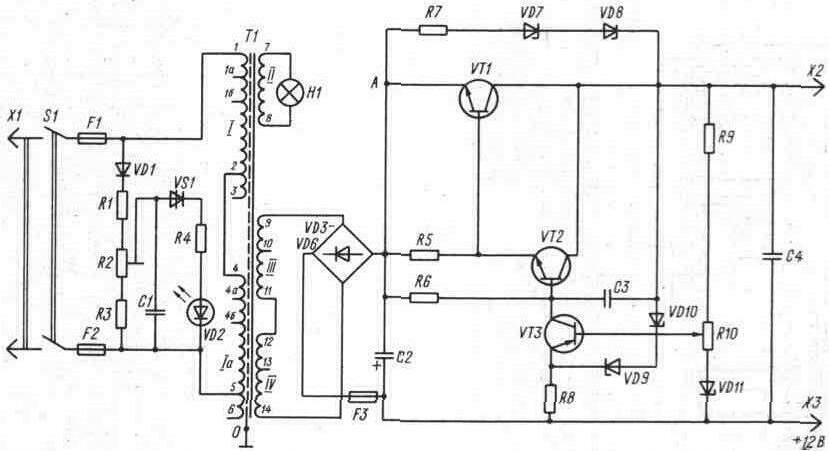 Помогите найти схему выпрямителя элетроника д2-27 — форум про радио.