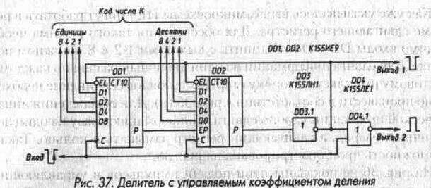 Рис. 37 Делитель с управляемым коэффициентом деления