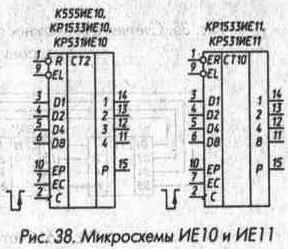 Рис. 38 Микросхемы ИЕ10 и ИЕ11