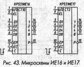Рис. 43 Микросхемы ИЕ16 и ИЕ17