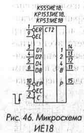 Рис. 46 Микросхема ИЕ18