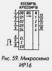 Рис. 59 Микросхема ИР16