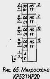 Рис. 65 Микросхема КР531ИР20