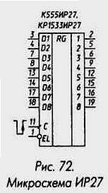 Рис. 72 Микросхема ИР27