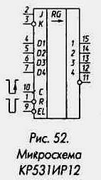 Рис. 52 Микросхема КР531ИР12