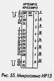 Рис. 55 Микросхема ИР13