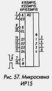 Рис. 57 Микросхема ИР15