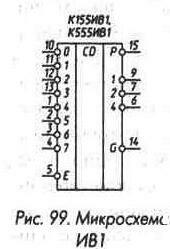 Рис. 99 Микросхема ИВ1