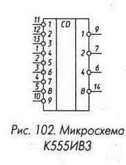 Рис. 102 Микросхема К555ИВ3