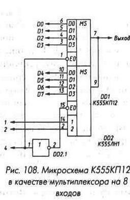 мультиплексор на 8 входов