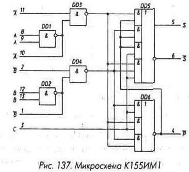 Рис. 137 Микросхема К155ИМ1