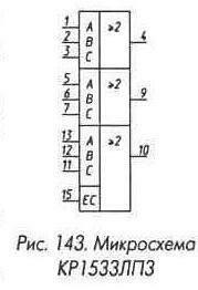 Рис. 143 Микросхема КР1533ЛП3