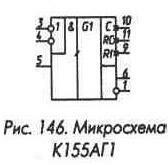 Рис. 146 Микросхема К155АГ1