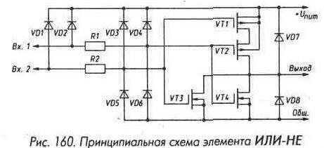Рис. 160 Принципиальная схема элемента ИЛИ-НЕ
