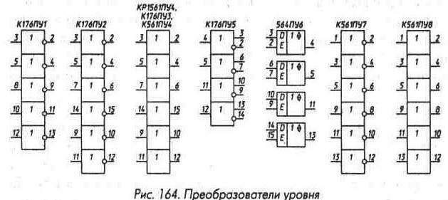 Рис. 164 Преобразователи уровня