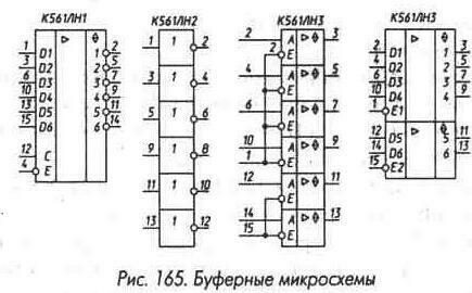 Рис. 165 Буферные микросхемы