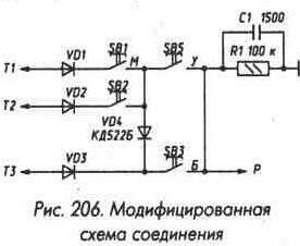Рис. 206 Модифицированная схема соединения