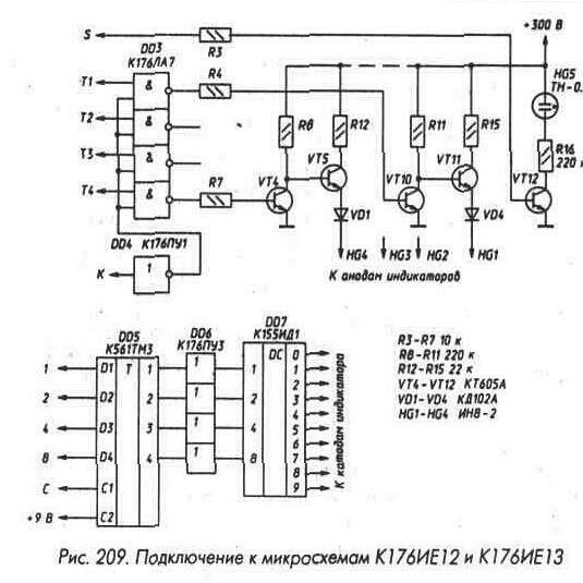 установки от кнопок SB1 - SB3 могут поступать на вход Р микросхемы DD2, в нижнем - на DD2'.