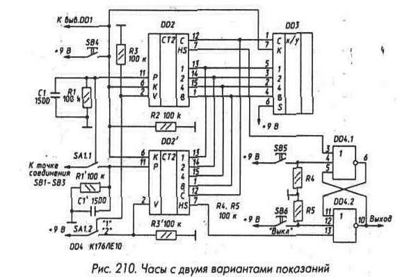 Справочники.  Вверх.  Thumbnail.  Рис. 211 Микросхема К561ИЕ14.