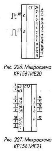 Рис. 226 Микросхемы КР1561ИЕ20 и КР1561ИЕ21