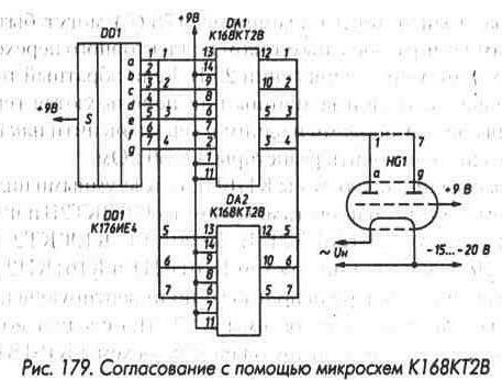 Рис. 179 Согласование с помощью микросхем К168КТ2В