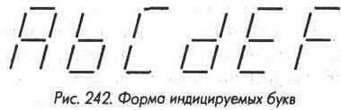 Рис. 242 Форма индицируемых букв