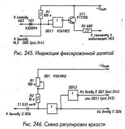 Рис. 245 Индикация фиксированной запятой