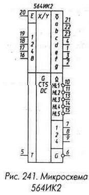 Рис. 241 Микросхема 564ИК2