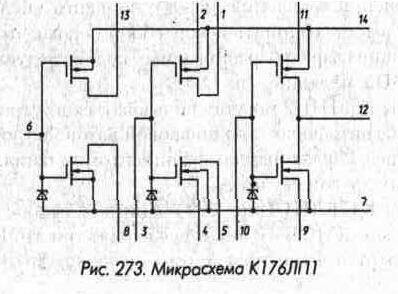 структура К176ИП1