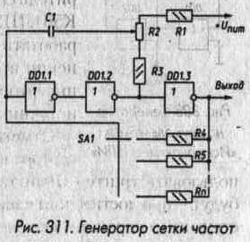 Рис. 311 Генератор сетки частот