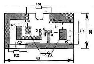 Рис. 2.18 Схема приставки к телефону для беспроводного дистанционного вызывного устройства.  Телефонная техника.